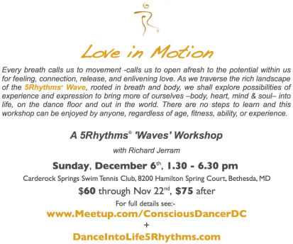Love in Motion Flier text